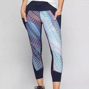 Athleta Women's Mosaic Relay Capri leggings